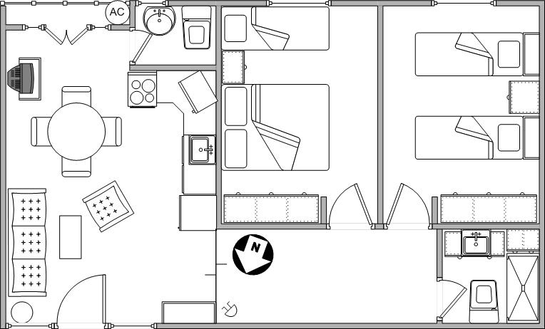 Tres ambientes departamentos irup for Planos de closet pdf